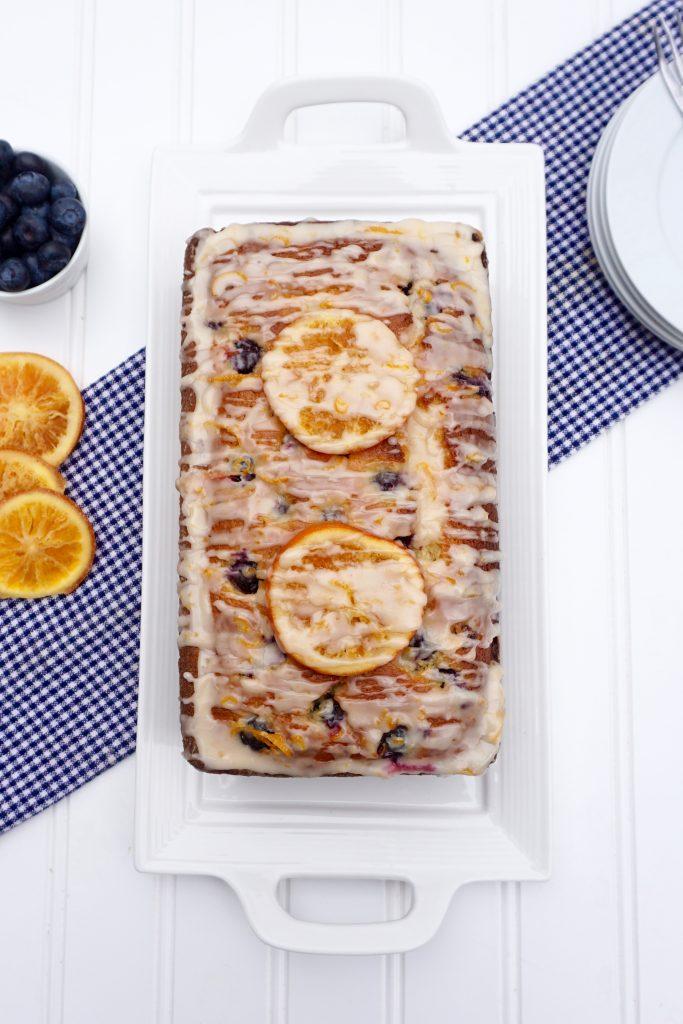 Blueberry Orange Yogurt Cake