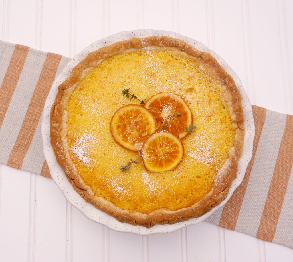 Orange Chess Pie