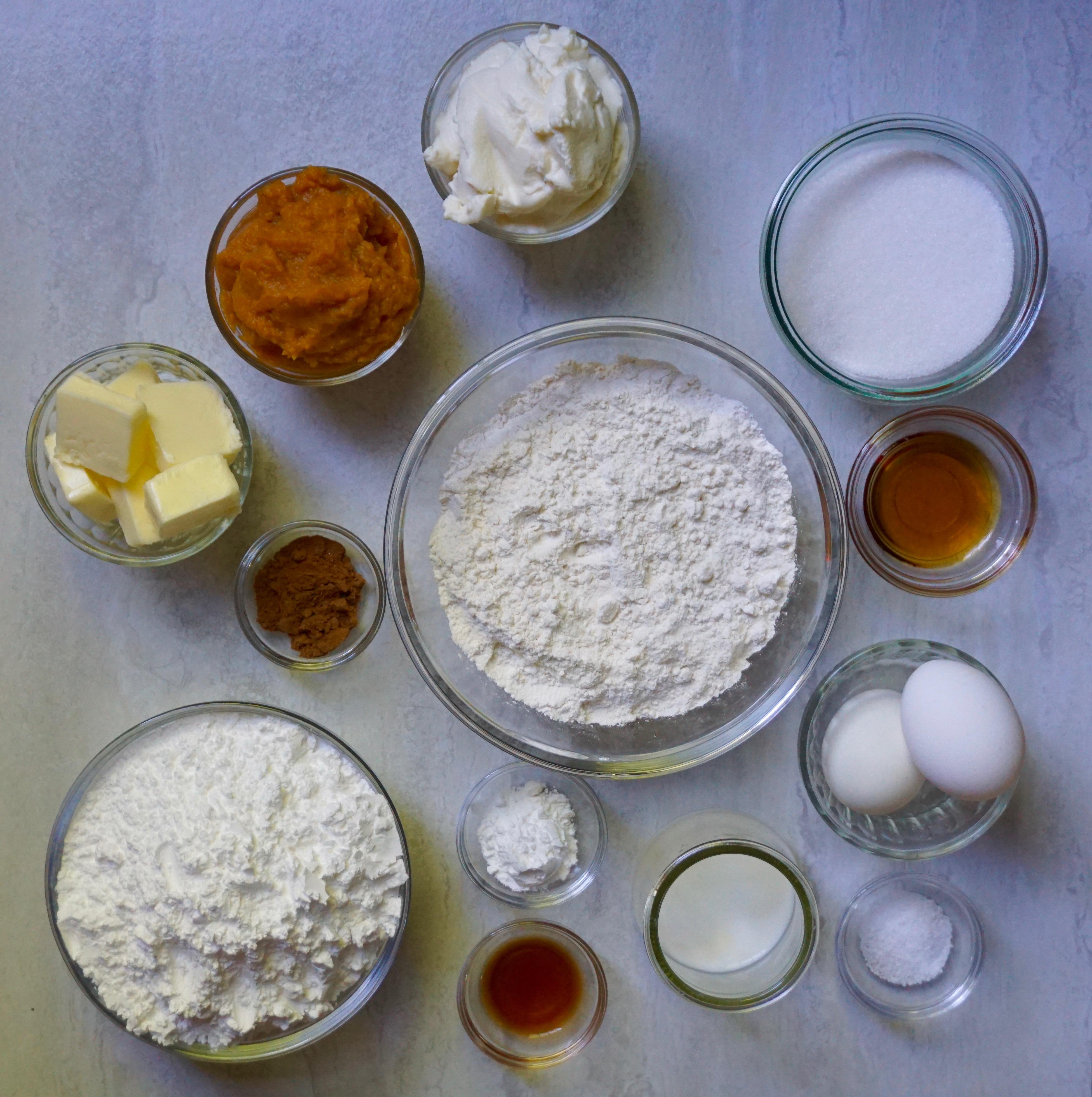 Pumpkin Spice Ricotta cookie ingredients