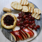 Baked Brie with Honey and Cranberries