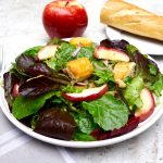 Apple Walnut Salad with Cheddar Cheese Croutons