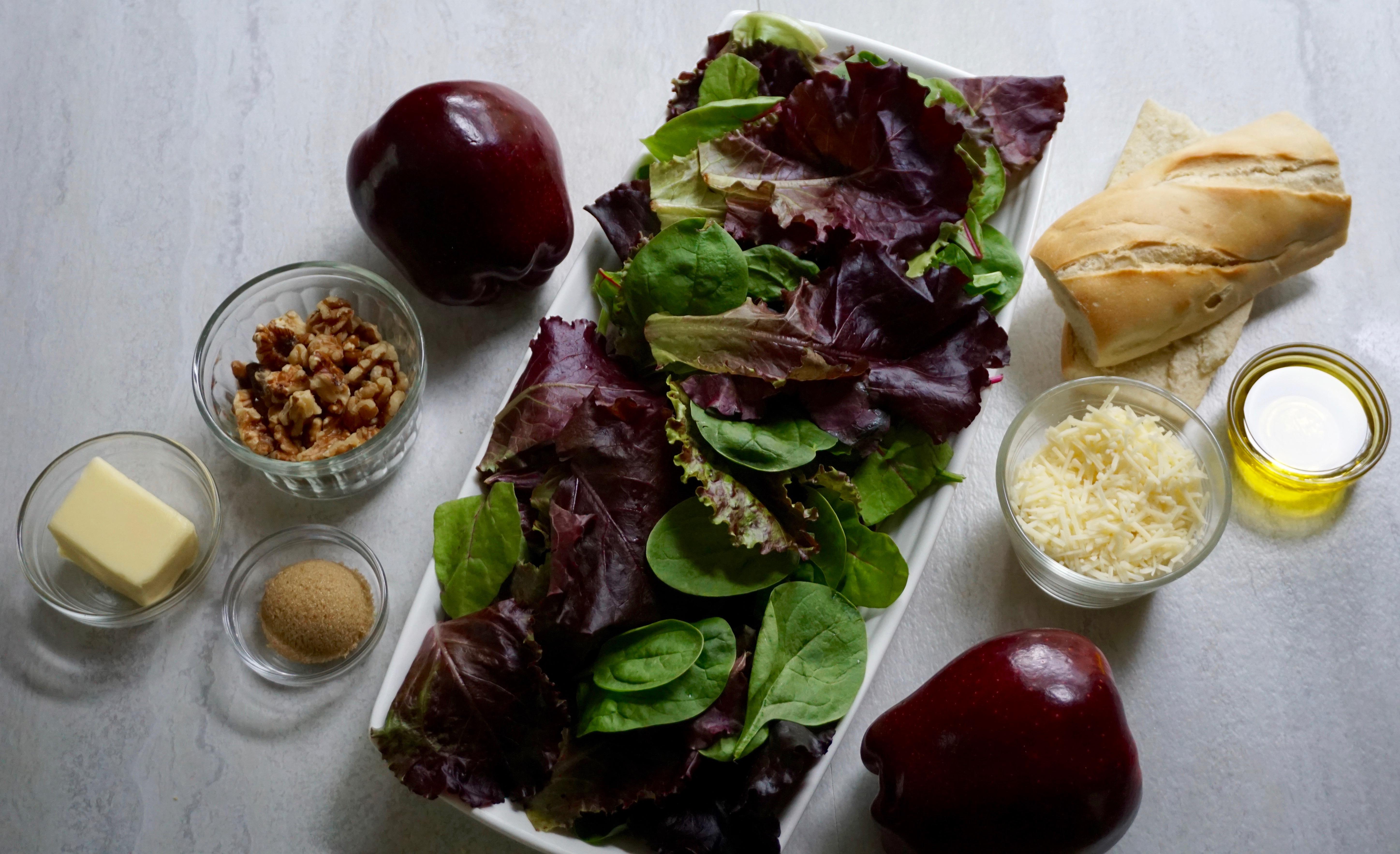 Apple Walnut Salad Ingredients