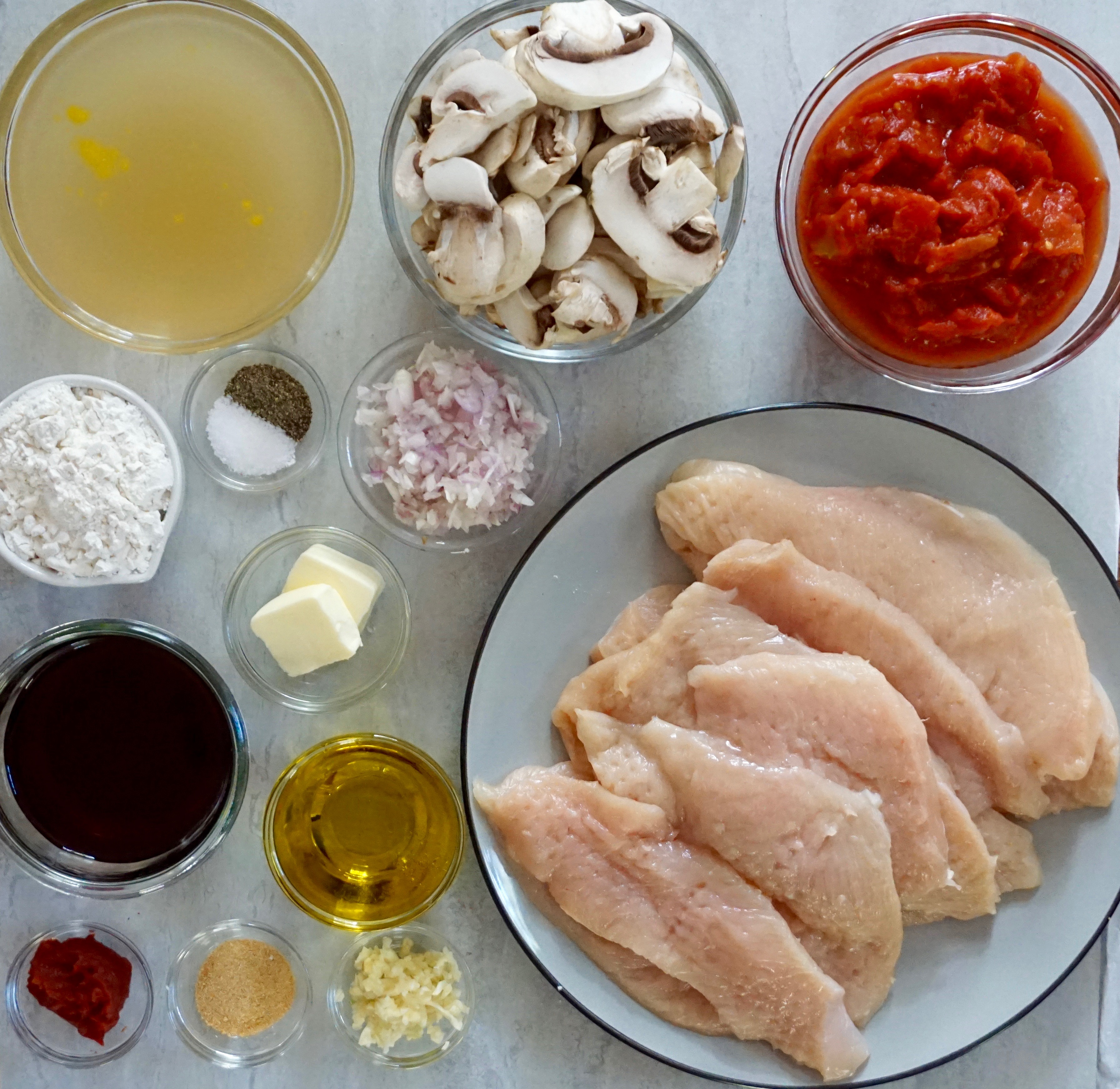 Chicken Marsala Ingredients