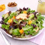 Apple Walnut Salad with Cheddar Croutons