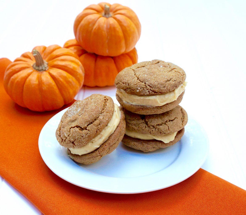 Pumpkin Creme Cookie Sandwiches