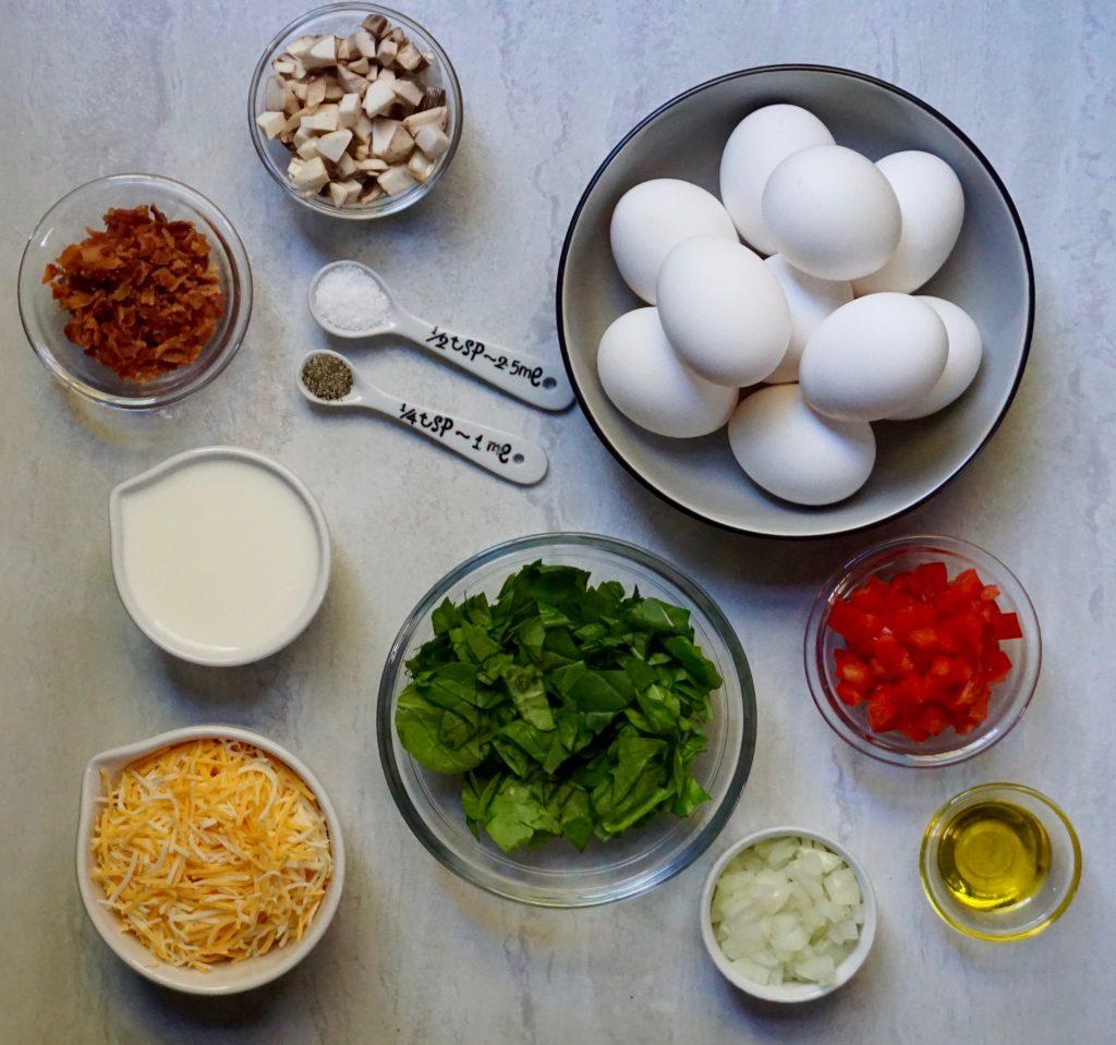 Mini Frittata ingredients