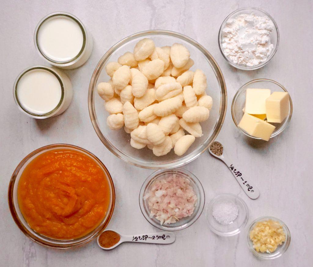 Gnocchi with Butternut Squash Bechamel Sauce