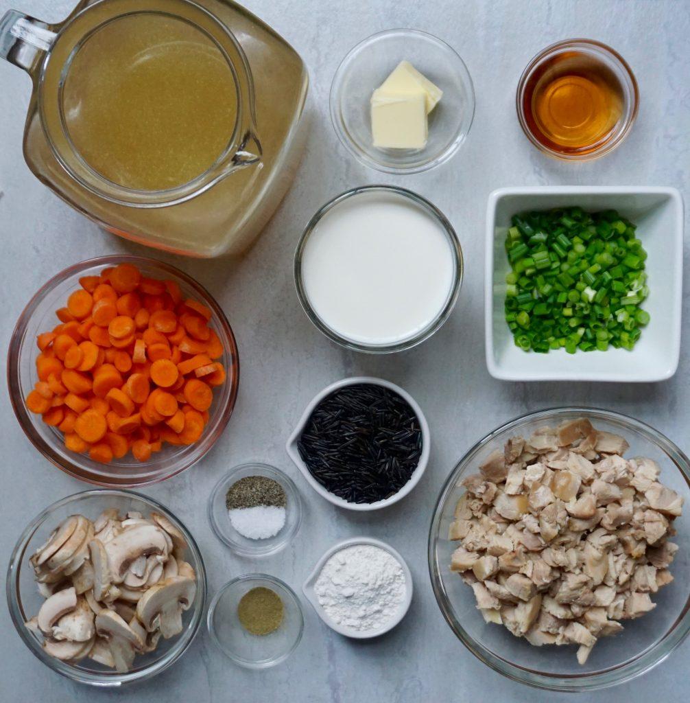 Creamy Turkey Wild Rice Soup ingredients