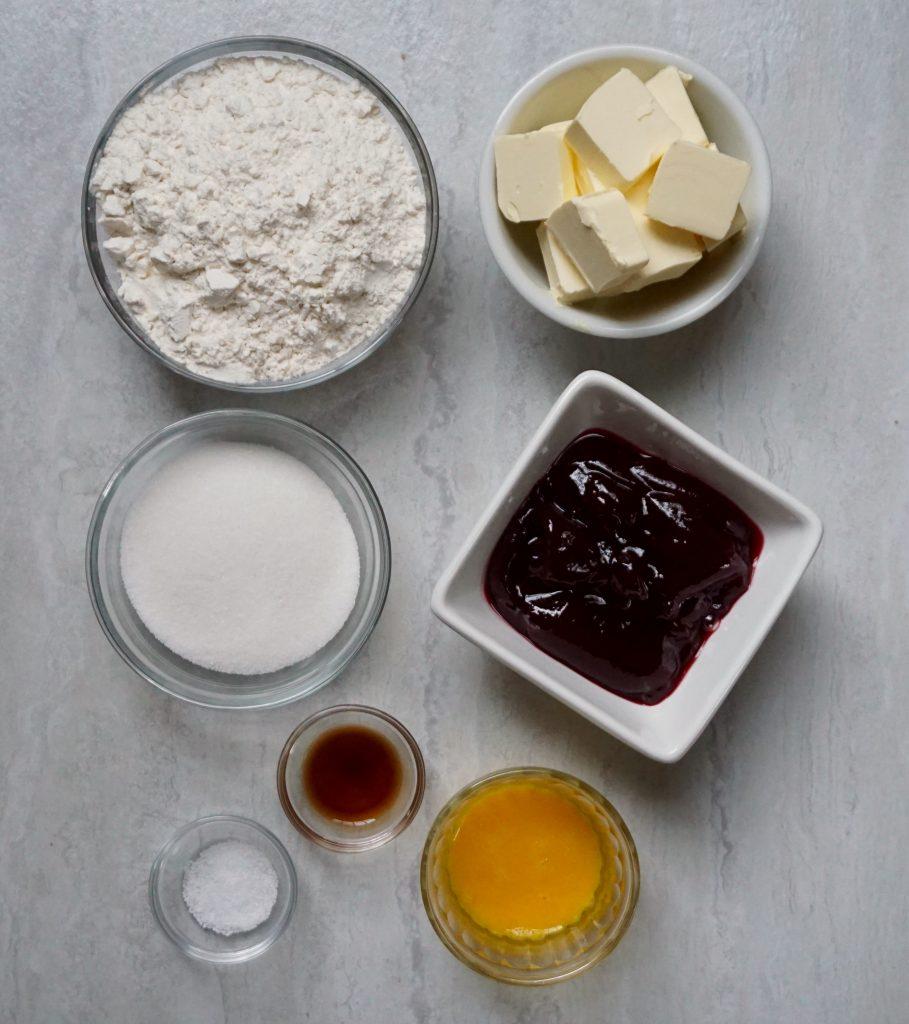 Raspberry Thumbprint Cookie ingredients