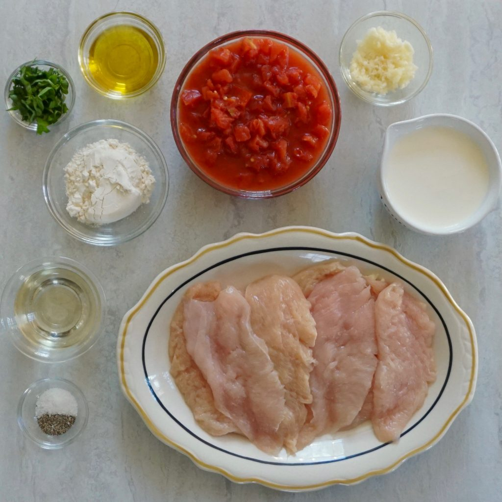 Chicken with Tomato Cream Sauce ingredients