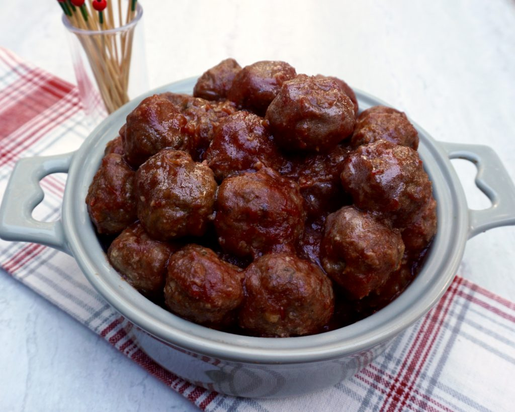 Cranberry Chili Glazed Meatballs