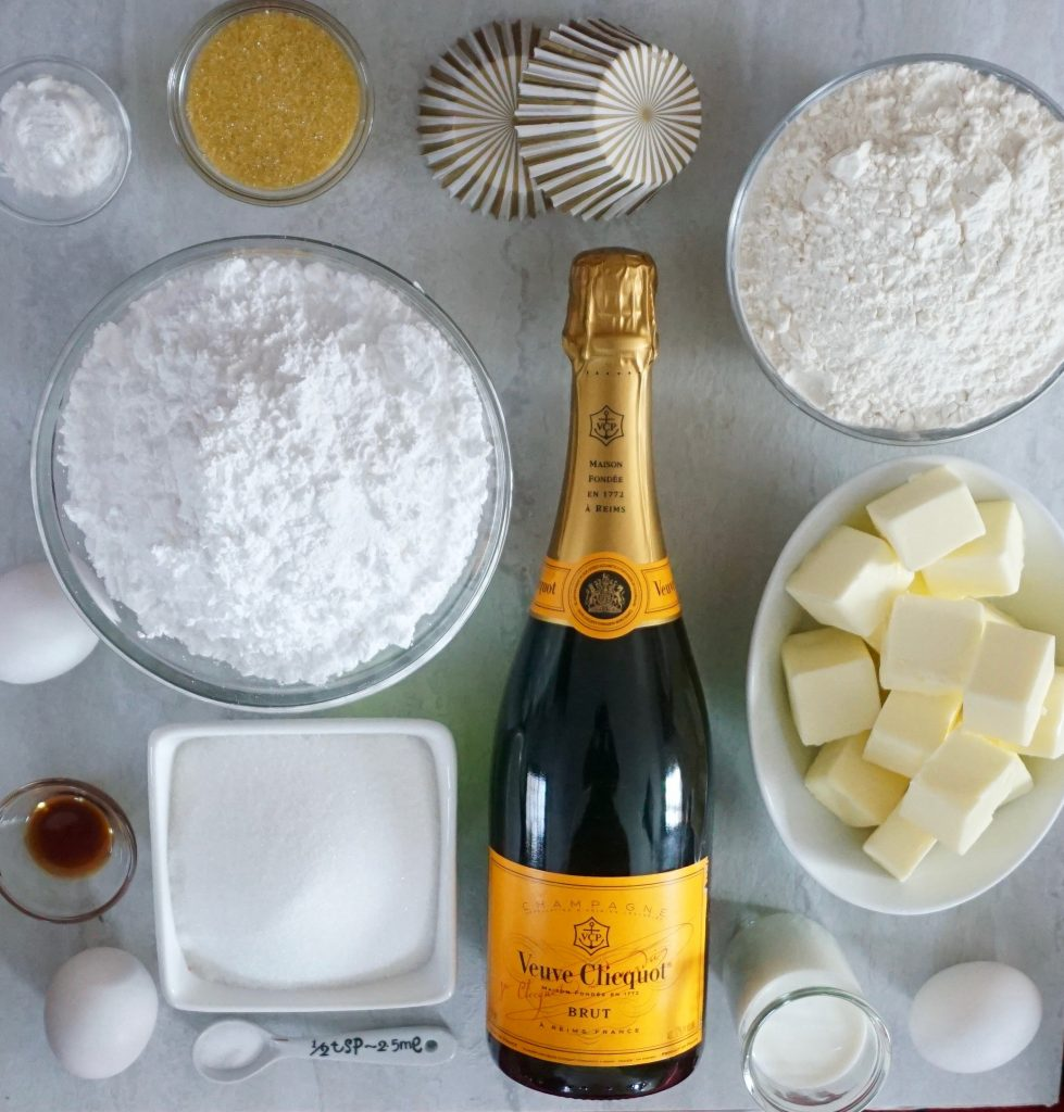 Champagne Cupcake ingredients