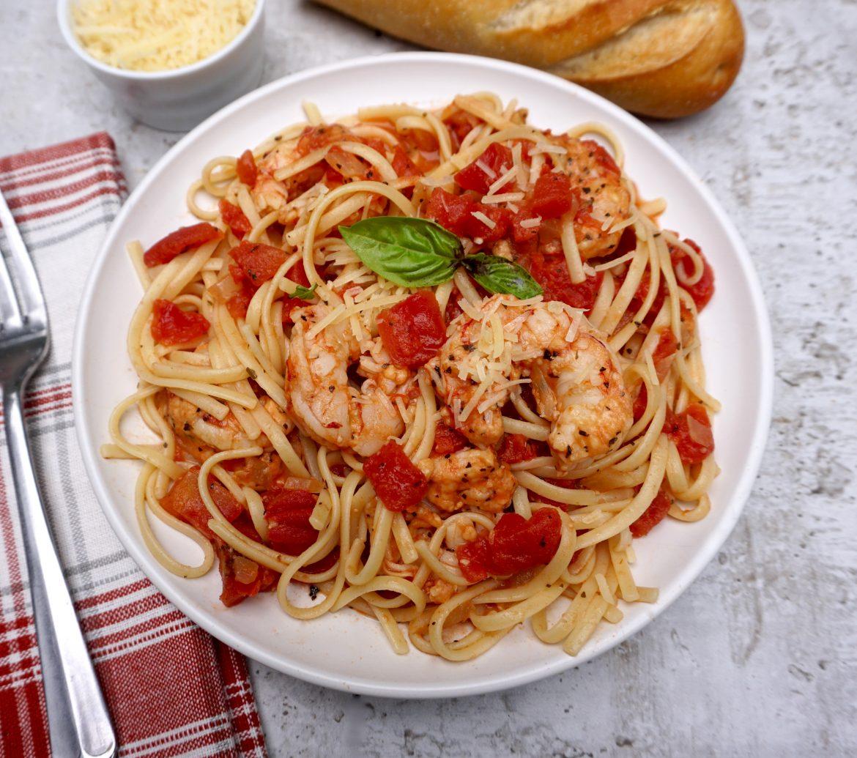 Shrimp with Tomato Wine Sauce