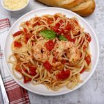 Shrimp with Tomato Wine Sauce