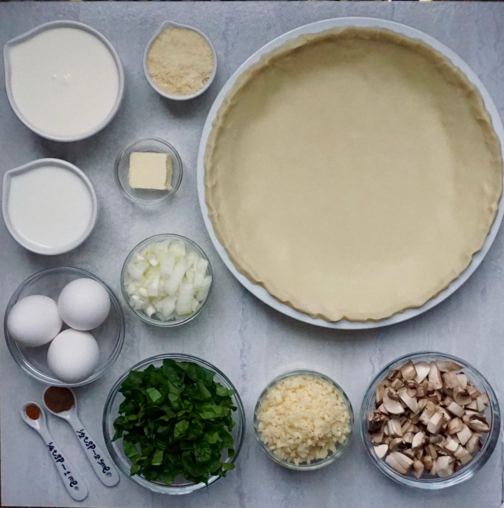 Spinach Mushroom Quiche Ingredients