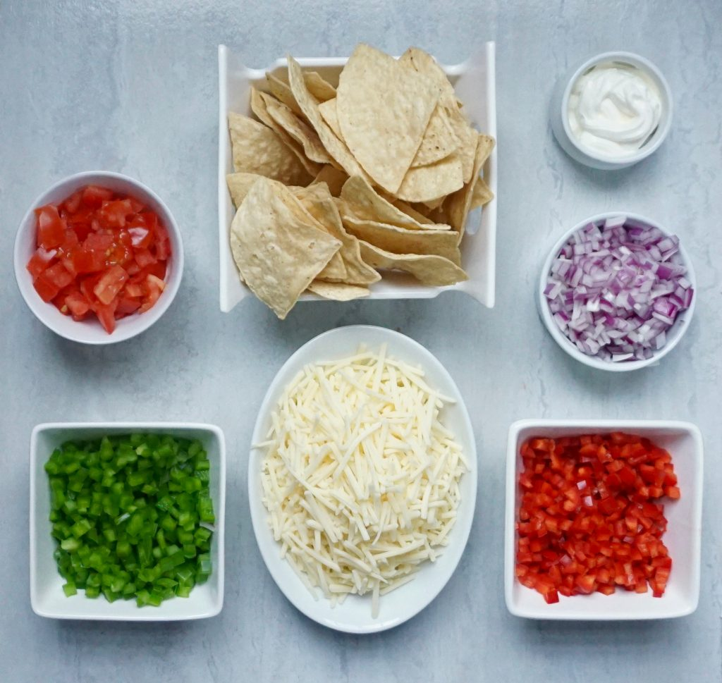 Vegetable Nacho ingredients