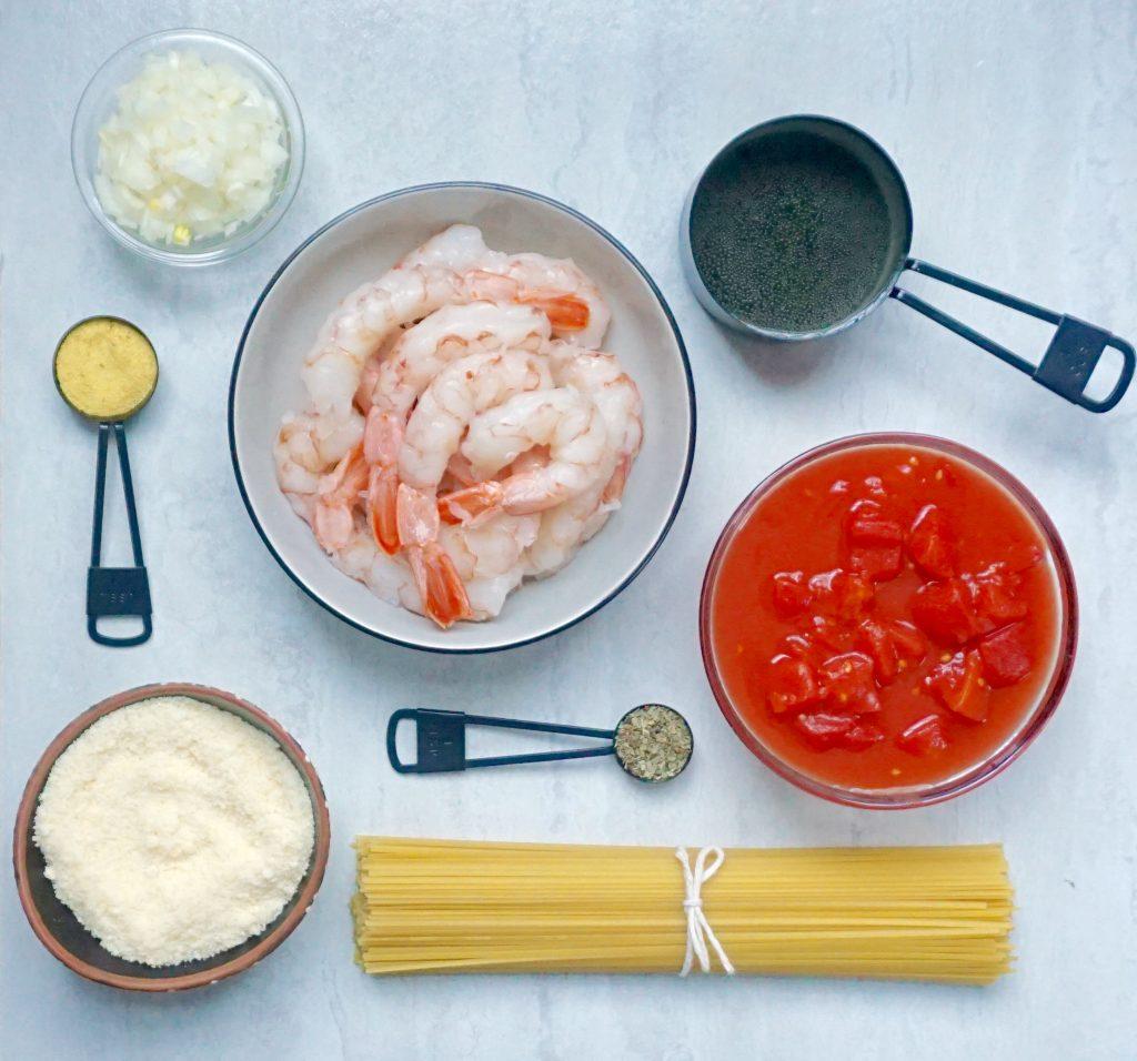 Shrimp Tomato Wine Sauce