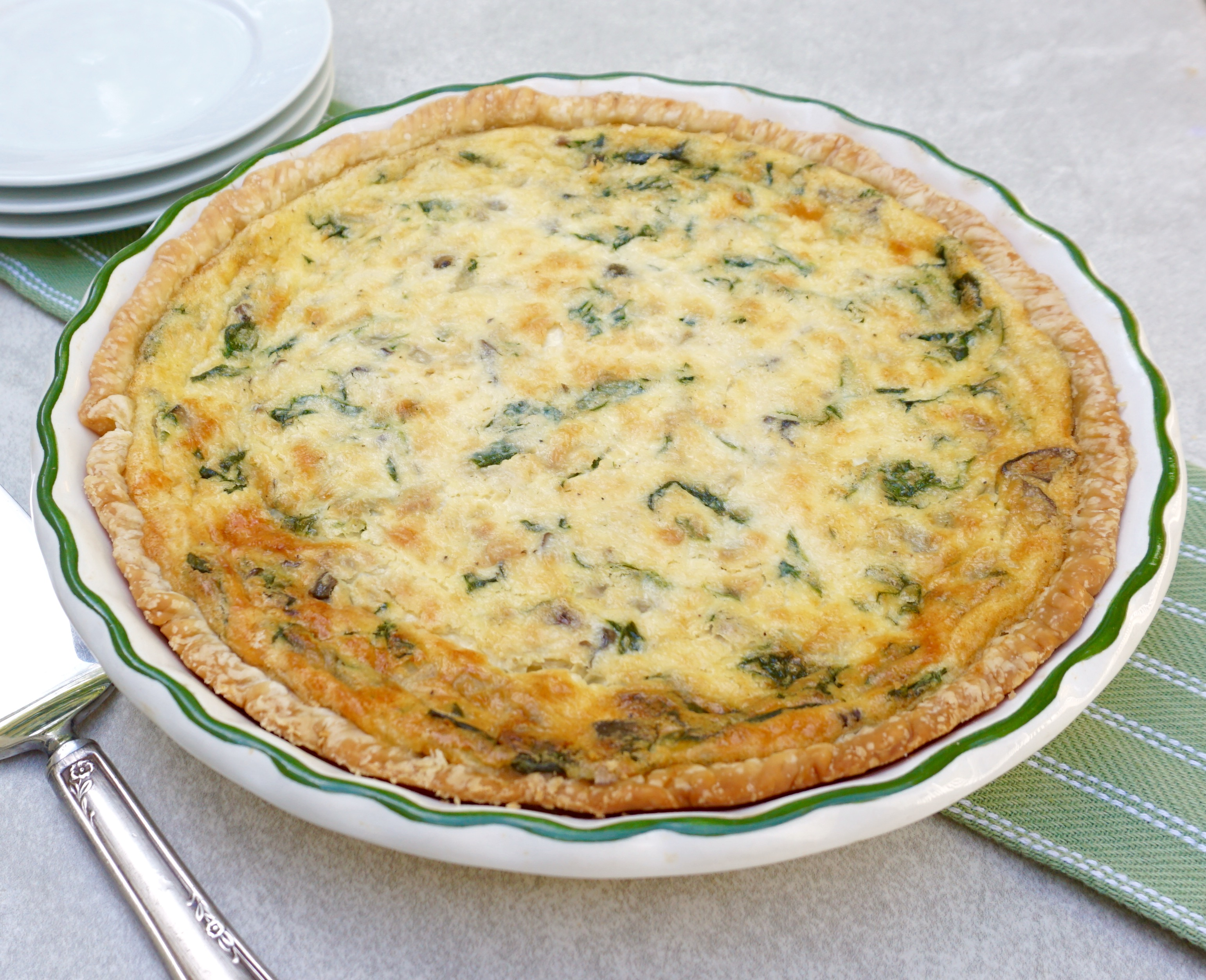 Spinach Mushroom Quiche Is The Perfect Brunch Dish