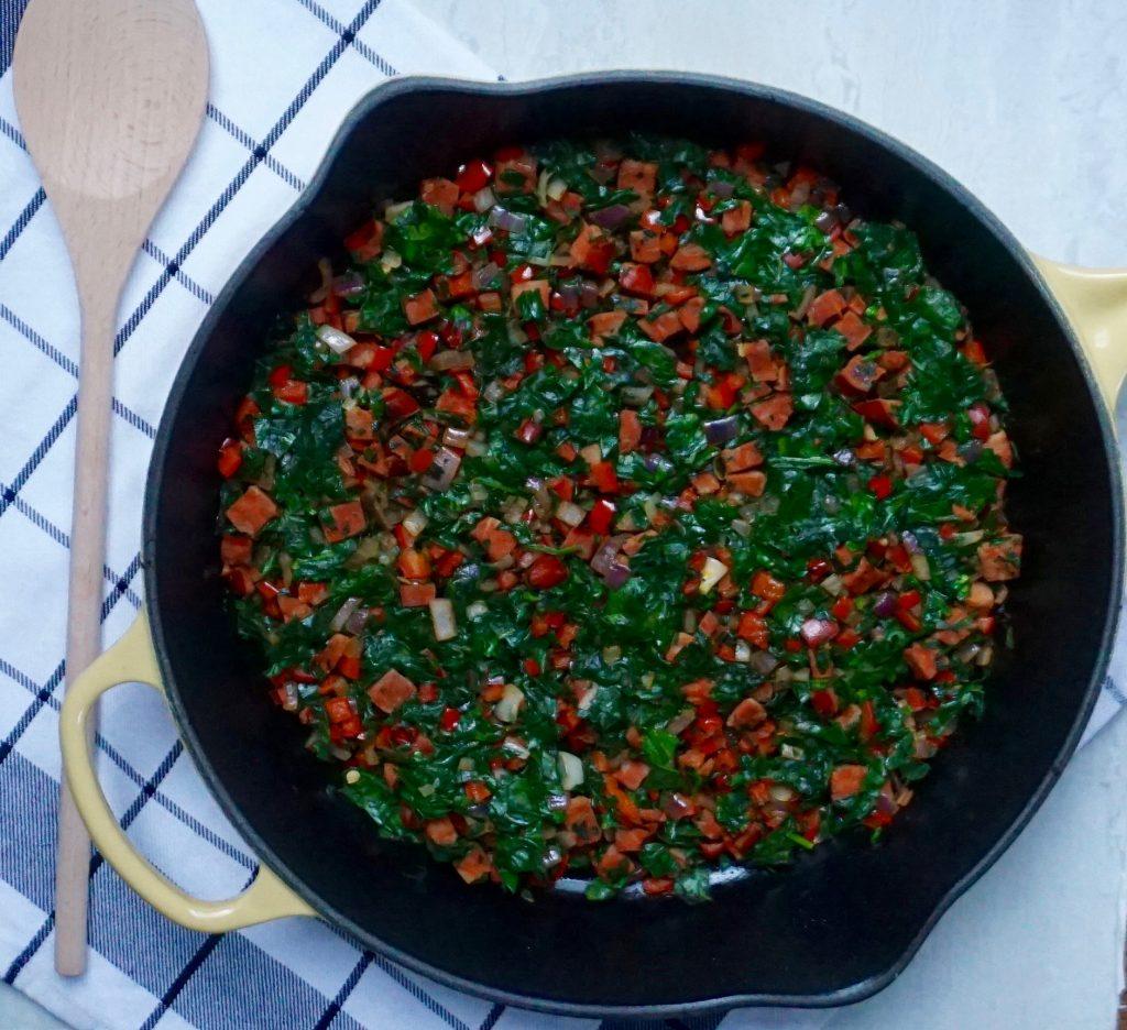 Chorizo Frittata Vegetables
