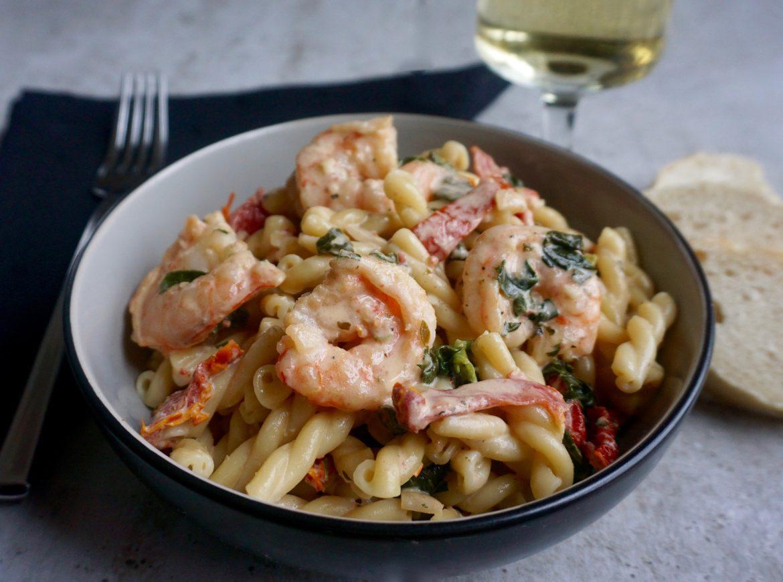 Creamy Tuscan Shrimp Fusilli
