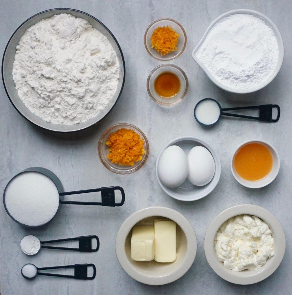 Orange Ricotta Cookie Ingredients