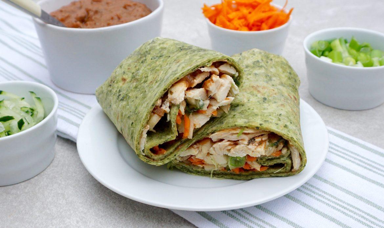 Thai Peanut Chicken Wrap