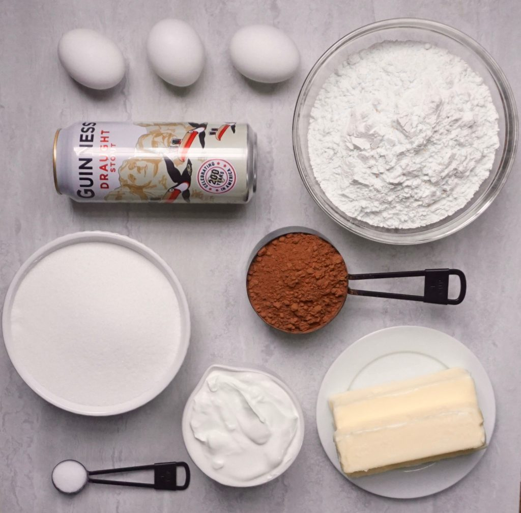 Guinness Chocolate Cake Ingredients