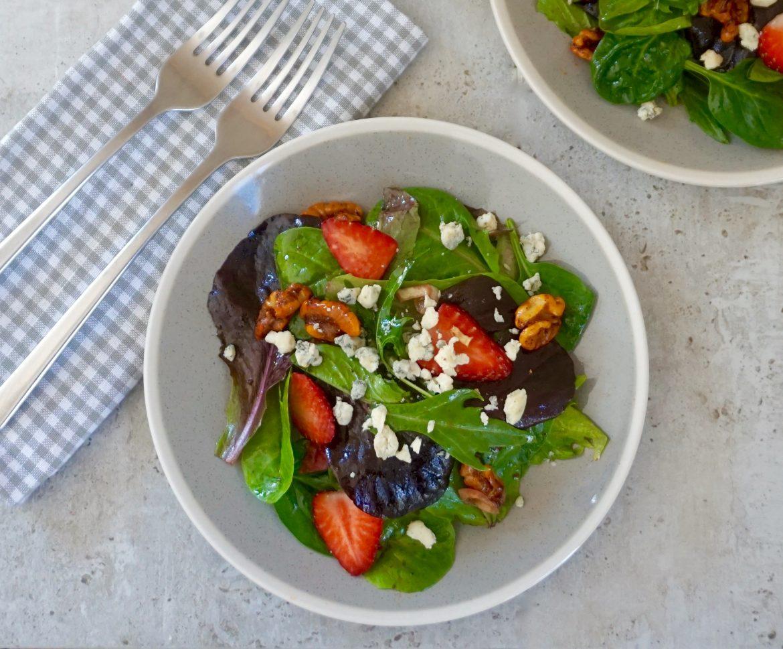 Strawberry Blue Cheese Salad
