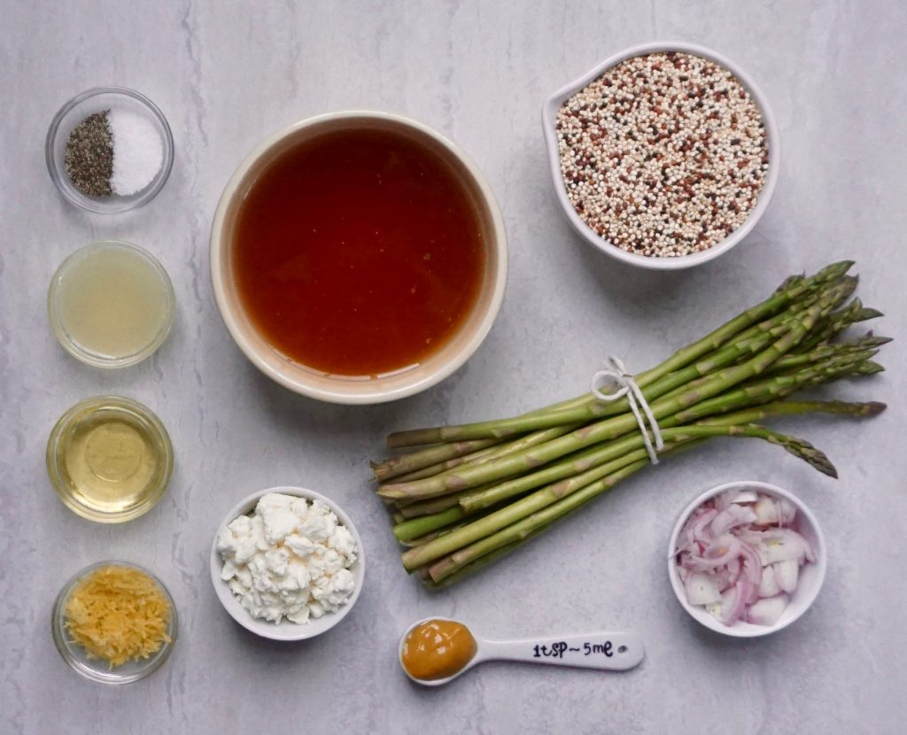 Lemon Asparagus Quinoa ingredients