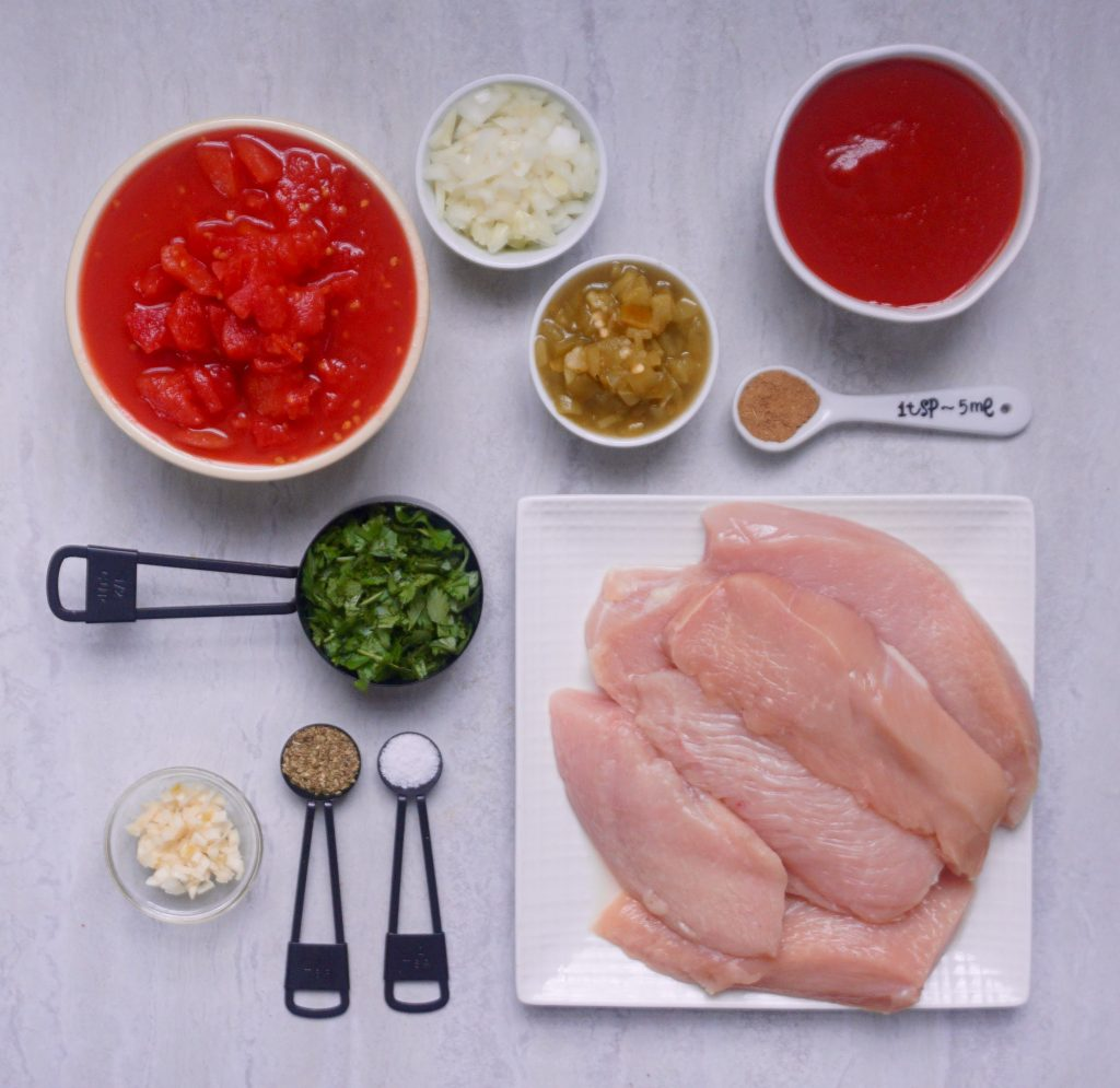 Mexican pulled chicken ingredients