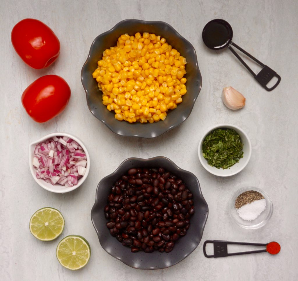 Black Bean Corn Salsa Ingredients