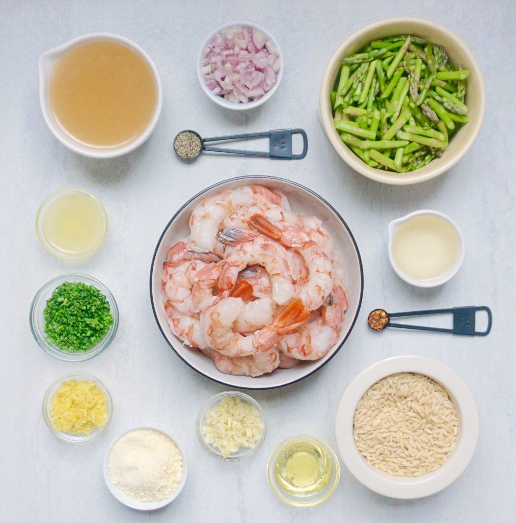 Lemon Shrimp Orzo with Asparagus