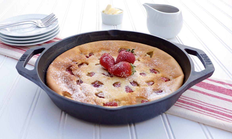 Strawberry Ricotta Dutch Baby