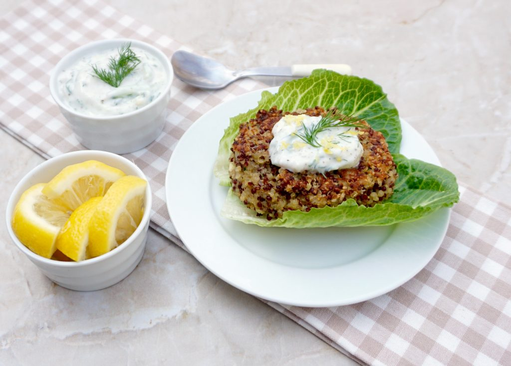 Lemon Chive Quinoa Patties