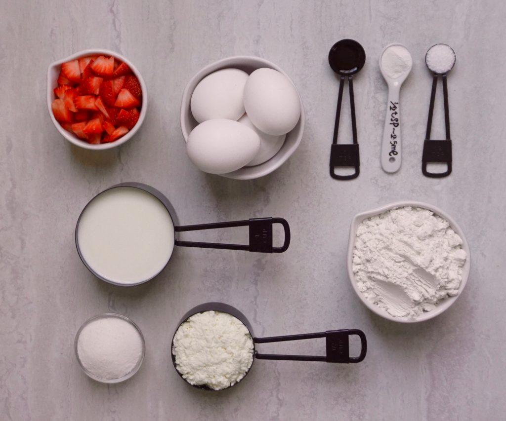 Strawberry Ricotta Dutch Baby Ingredients