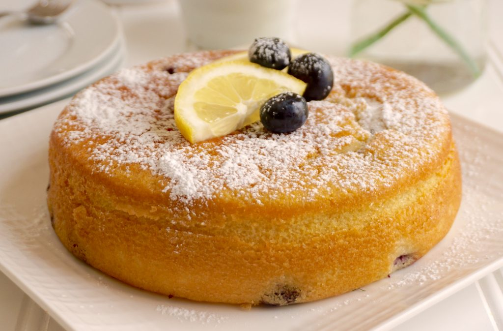 Blueberry Lemon Olive Oil Cake