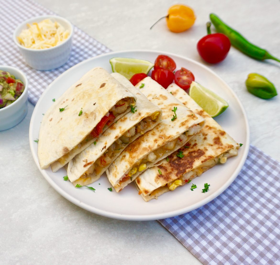 Summer Shrimp Quesadilla