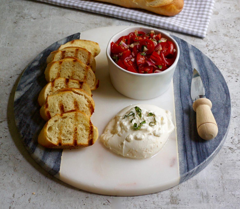 Burrata Bruschetta