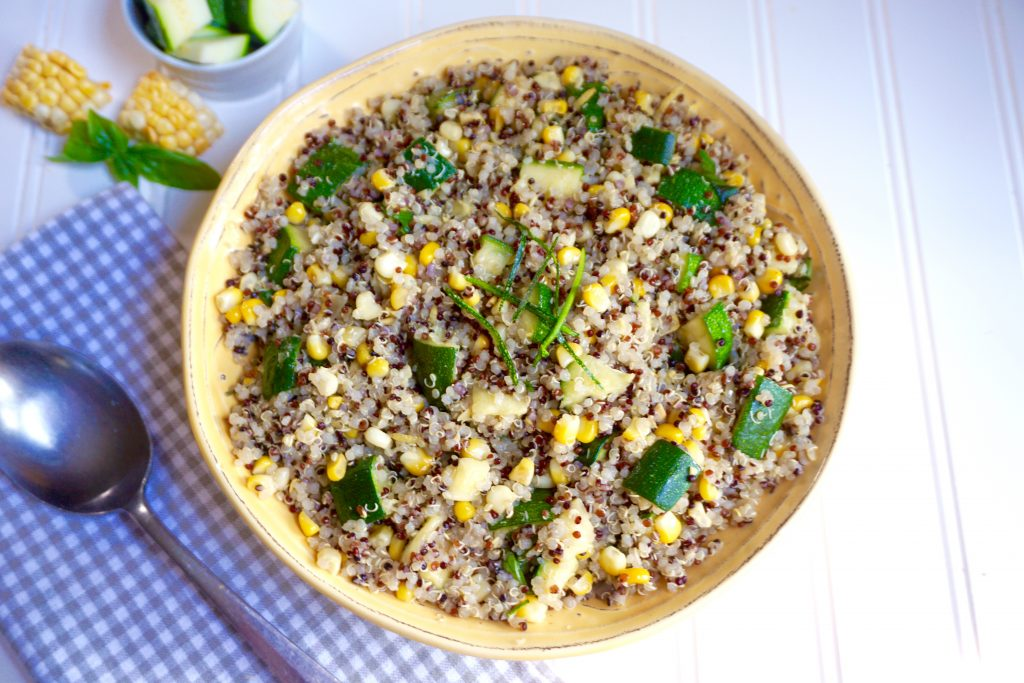 Zucchini Corn Quinoa Salad