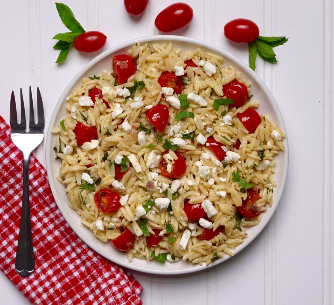 Orzo with Mint Tomato and Feta