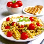 Caprese Fusilli with Burrata