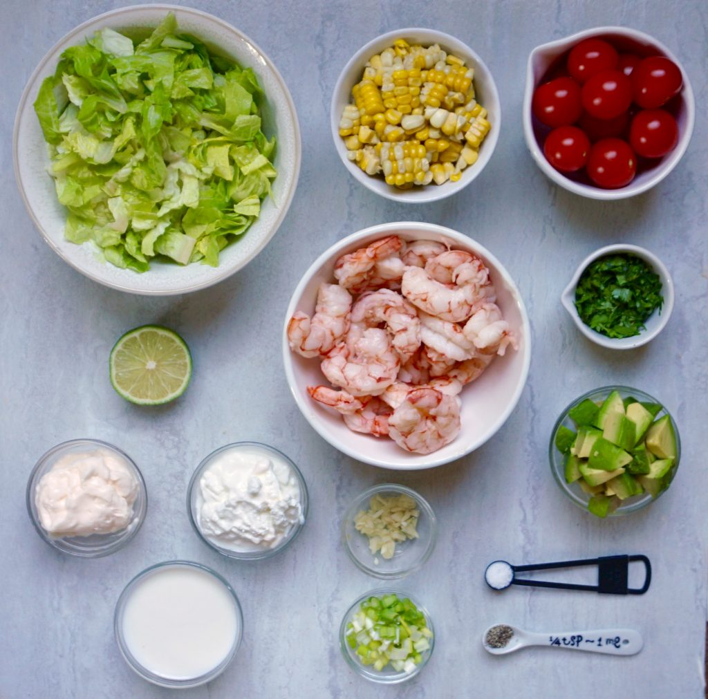 Shrimp Corn and Avocado Salad