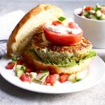 Chicken Spinach Feta Burger