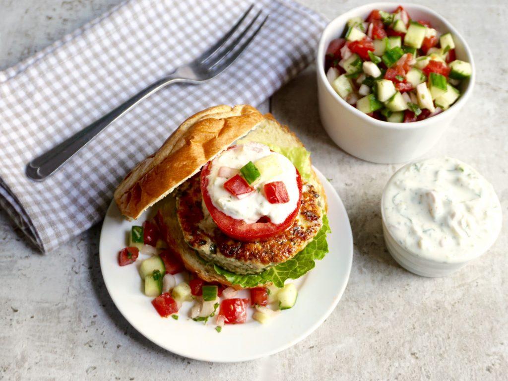 Chicken Spinach Feta Burger