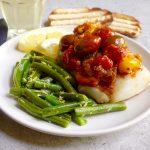 Cod with Tomato Wine Sauce