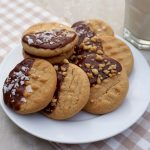 Chocolate Glazed Peanut Butter Cookies