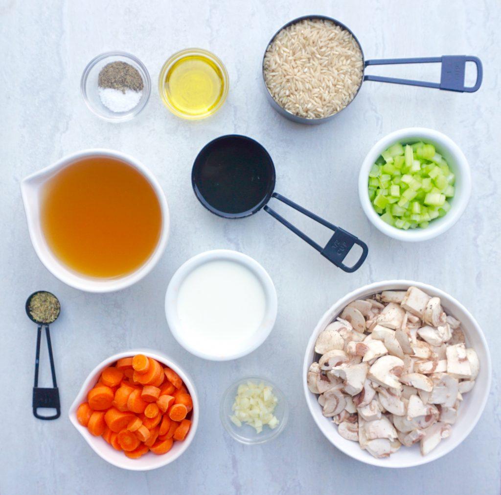 Creamy Mushroom Rice Soup