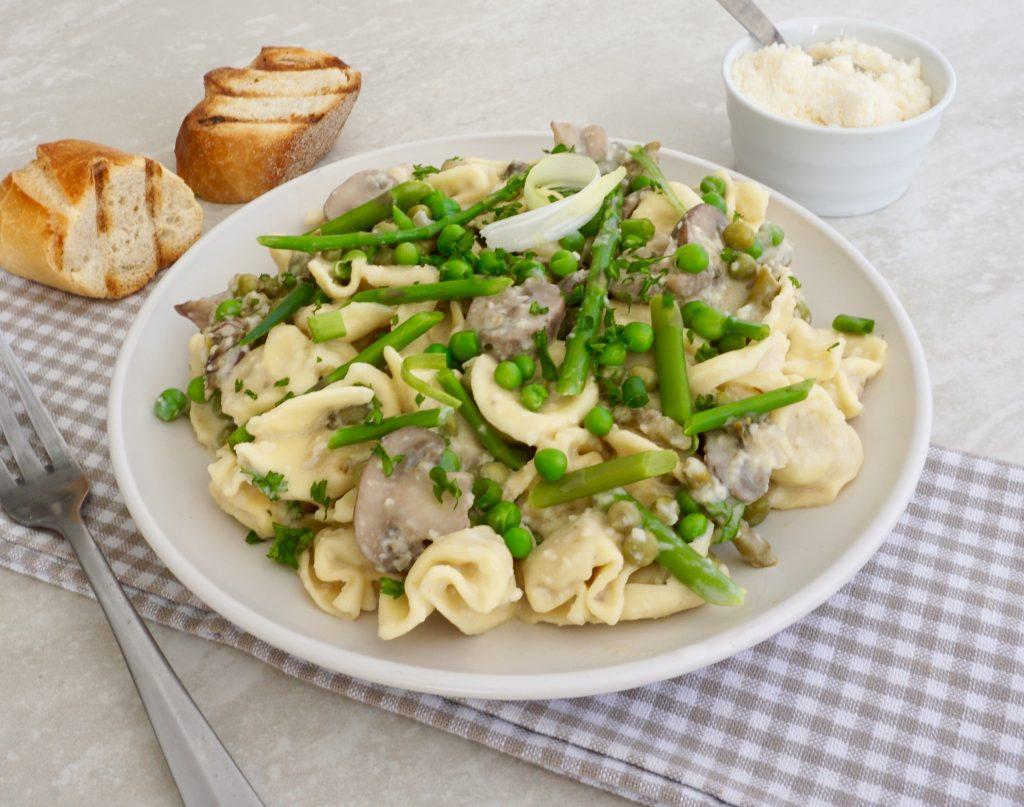 Mushroom Asparagus Tortellini