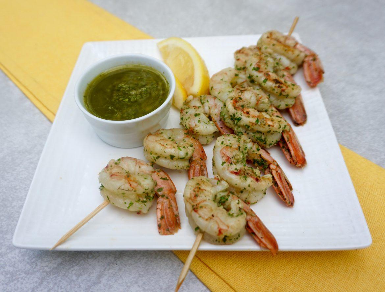 Chimichurri Shrimp Skewers