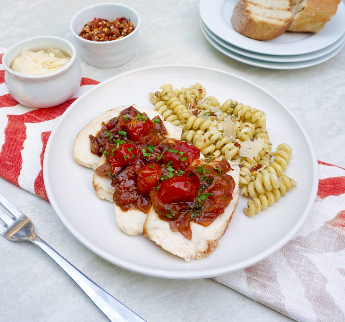 Roasted Tomato Herb Chicken